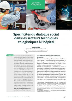 Spécificités du dialogue social dans les secteurs techniques et logistiques à l'hôpital