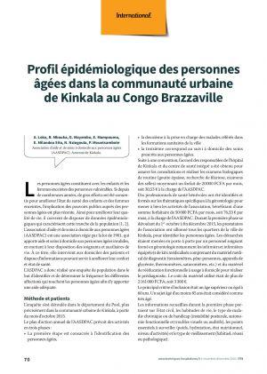 Profil épidémiologique des personnes âgées dans la communauté urbaine de Kinkala au Congo Brazzaville