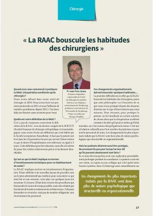 """""""La RAAC bouscule les habitudes des chirurgiens"""""""