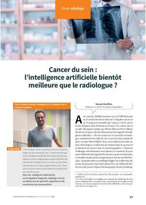 Cancer du sein : l'intelligence artificielle bientôt meilleure que le radiologue ?