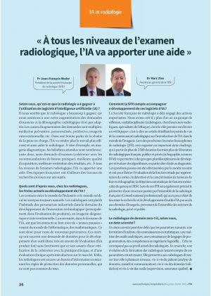« À tous les niveaux de l'examen radiologique, l'IA va apporter une aide »