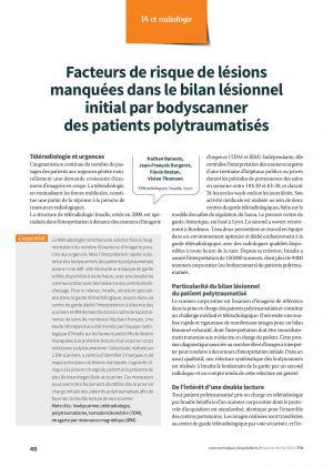 Facteurs de risque de lésions manquées dans le bilan lésionnel initial par bodyscanner des patients polytraumatisés