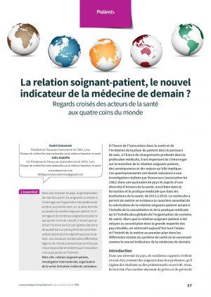 La relation soignant-patient, le nouvel indicateur de la médecine de demain ?