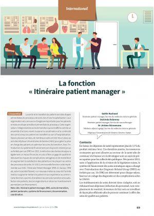 La fonction « Itinéraire patient manager »
