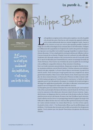La parole à Philippe Blua Président de l'Association Européenne des Directeurs d'Hôpital