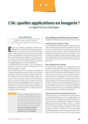 L'IA : quelles applications en imagerie ? Le regard d'une radiologue