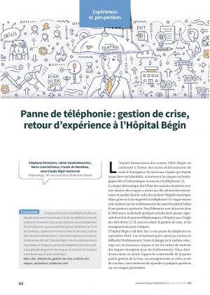 Panne de téléphonie : gestion de crise, retour d'expérience à l'Hôpital Bégin