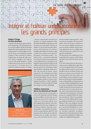 Le coin du manager, Pascal Christin. Intégrer et fidéliser un collaborateur : les grands principes
