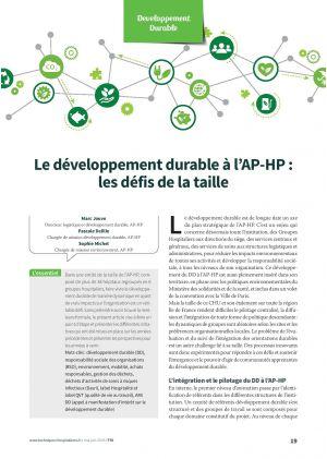 Le développement durable à l'AP-HP : les défis de la taille