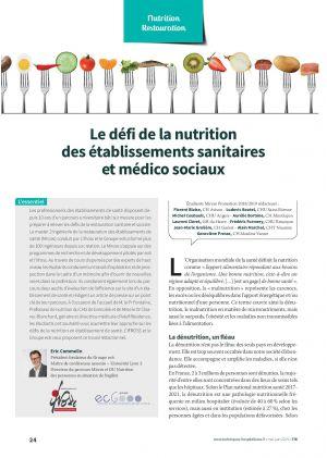 Le défi de la nutrition des établissements sanitaires et médico sociaux