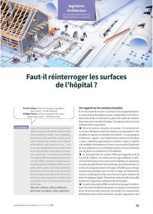 Faut-il réinterroger les surfaces de l'hôpital ?
