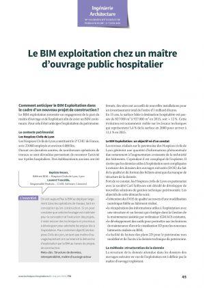 Le BIM exploitation chez un maître d'ouvrage public hospitalier