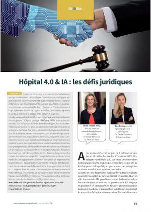 Hôpital 4.0 & IA : les défis juridiques