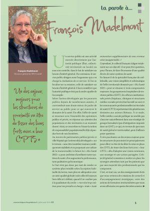 [Accès libre] La parole à François Madelmont, Directeur général de SPH Conseil
