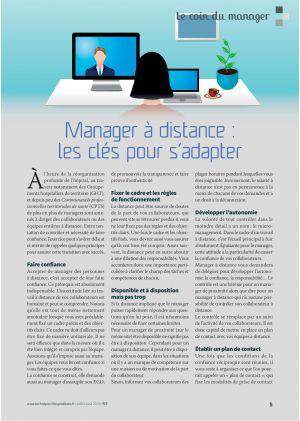 Le coin du manager, Pascal Christin. Manager à distance, les clés pour s'adapter