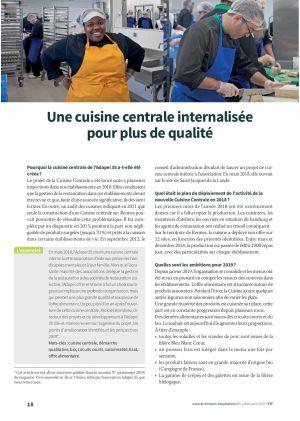 Une cuisine centrale internalisée pour plus de qualité
