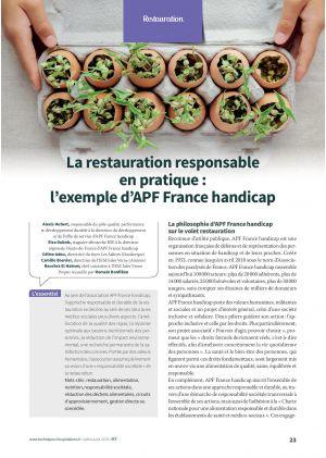 La restauration responsable en pratique : l'exemple d'APF France handicap