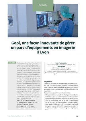 Gopi, une façon innovante de gérer un parc d'équipements en imagerie à Lyon