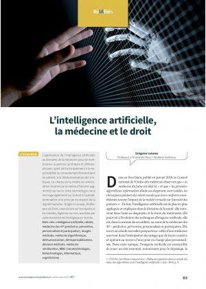 L'intelligence artificielle, la médecine et le droit