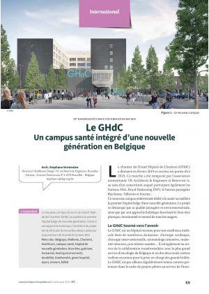 Le GHdC Un campus santé intégré d'une nouvelle génération en Belgique