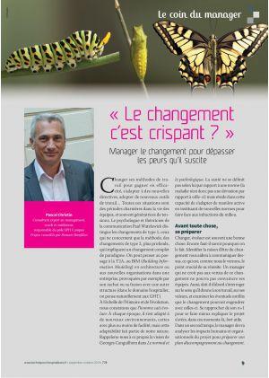 """Le coin du manager, Pascal Christin. """"Le changement c'est crispant ?"""""""