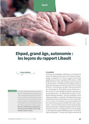 Ehpad, grand âge, autonomie : les leçons du rapport Libault