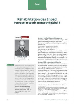 Réhabilitation des Ehpad Pourquoi recourir au marché global ?