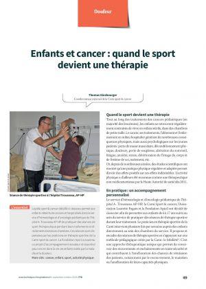 Enfants et cancer : quand le sport devient une thérapie