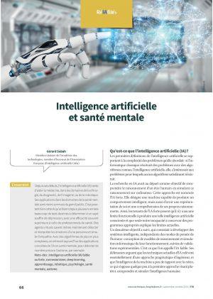 Intelligence artificielle et santé mentale