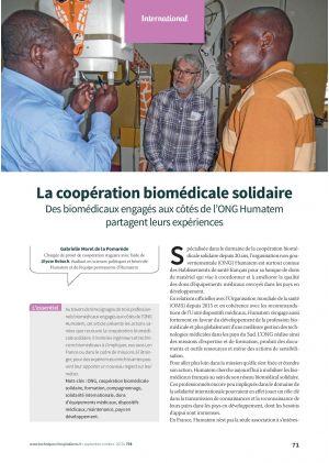 La coopération biomédicale solidaire Des biomédicaux engagés aux côtés de l'ONG Humatem partagent leurs expériences