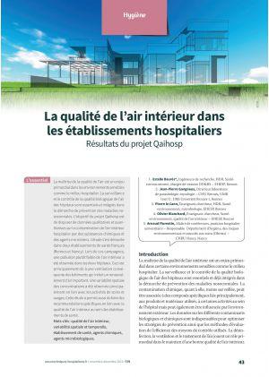 La qualité de l'air intérieur dans les établissements hospitaliers