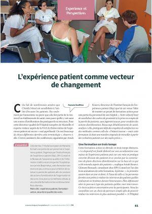 L'expérience patient comme vecteur de changement