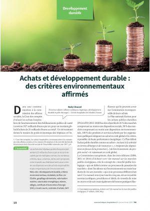 Achats et développement durable : des critères environnementaux affirmés