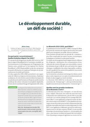 Le développement durable, un défi de société !