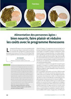 Alimentation des personnes âgées : bien nourrir, faire plaisir et réduire les coûts avec le programme Renessens