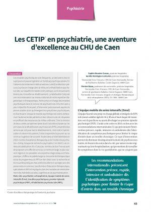 Les CETIP* en psychiatrie, une aventure d'excellence au CHU de Caen