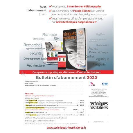 Téléchargez le bulletin d'abonnement 2019 revue Techniques hospitalières