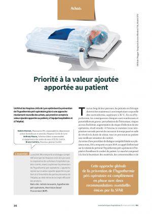 Priorité à la valeur ajoutée apportée au patient