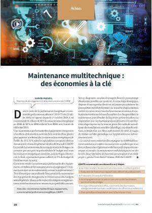 Maintenance multitechnique : des économies à la clé