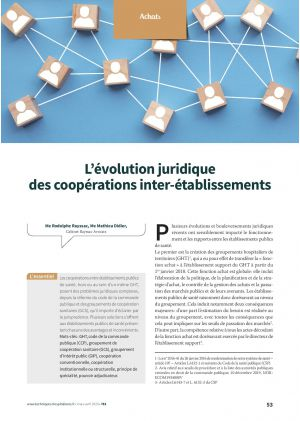 L'évolution juridique des coopérations inter-établissements