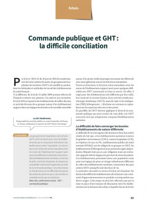 Commande publique et GHT : la difficile conciliation