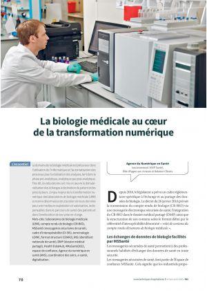 La biologie médicale au coeur de la transformation numérique