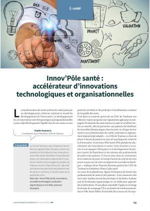 Innov'Pôle santé : accélérateur d'innovations technologiques et organisationnelles