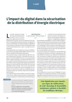 L'impact du digital dans la sécurisation de la distribution d'énergie électrique