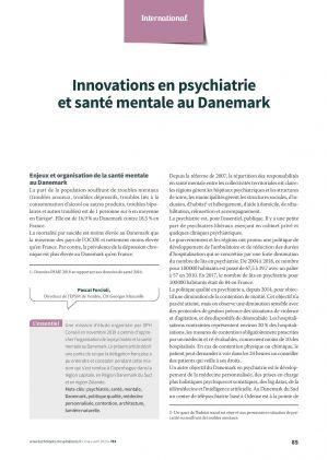 Innovations en psychiatrie et santé mentale au Danemark