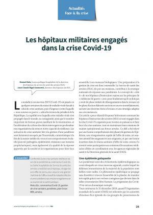 Les hôpitaux militaires engagés dans la crise Covid-19
