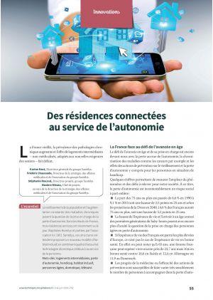 Des résidences connectées au service de l'autonomie