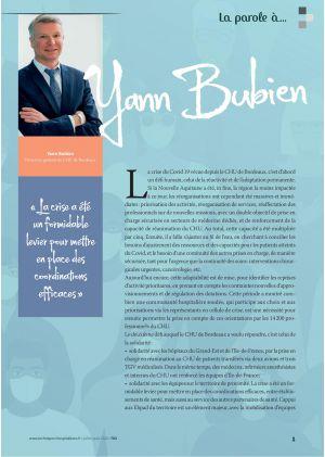 La parole à Yann Bubien, Directeur général du CHU de Bordeaux