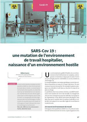 SARS-Cov 19 : une mutation de l'environnement de travail hospitalier, naissance d'un environnement hostile