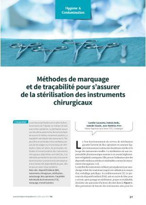 Méthodes de marquage et de traçabilité pour s'assurer de la stérilisation des instruments chirurgicaux